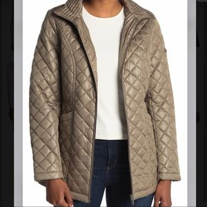 NWT- Via Spiga Stand Collar Quilted Jacket